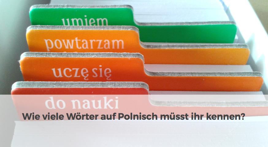 Wörter auf polnisch Frankfurt